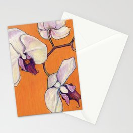 Orchid on Orange Stationery Cards