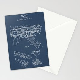 AK-47 blueprint Stationery Cards