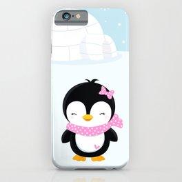 Cute penguin girl  iPhone Case