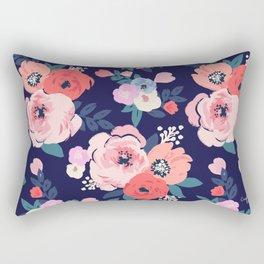 Aurora Floral Rectangular Pillow