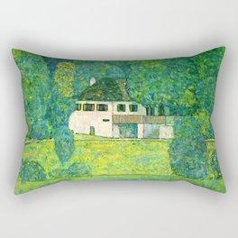 """Gustav Klimt """"Litzlbergerkeller am Attersee (Water castle)"""" Rectangular Pillow"""