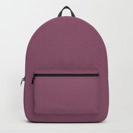 Beckoning Dark Pastel Purple - Pink Solid Color Pairs To Sherwin Williams Grandeur Plum SW 6565 Backpack