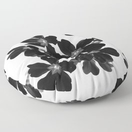 Primrose In BW Floor Pillow