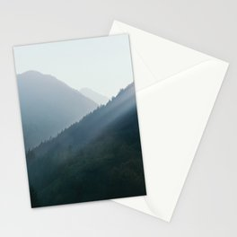 Hazy Days in Mountain Ranges Stationery Cards