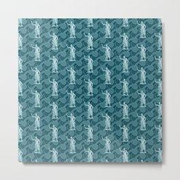 Poseidon OCEAN BREEZE / All hail the god of the sea Metal Print