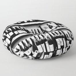 Wine Bottles in Black And White #decor #society6 #buyart Floor Pillow