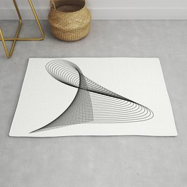 """Linear Collection"" - Minimal Letter A Print Rug"