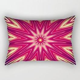 Neon Burst Rectangular Pillow