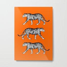 Tigers (Orange and White) Metal Print