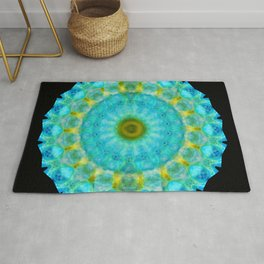 Sacred Voice - Mandala Art By Sharon Cummings Rug