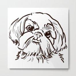The sweet Shih Tzu dog love of my life! Metal Print