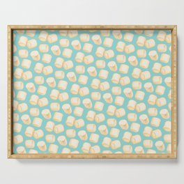 Marshmallow Pattern - Blue Serving Tray
