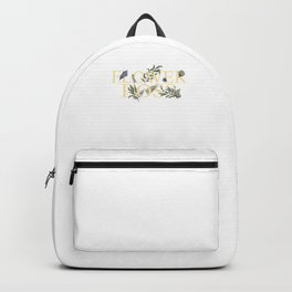 Flower Retailer Boss Florist Florists Gardener Bouquet Gift Backpack