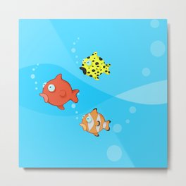 down to the sea...fishes! Metal Print