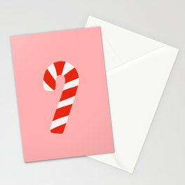 Candy Canes - Pink Stationery Cards