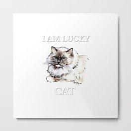 I Am Lucky Cat Metal Print