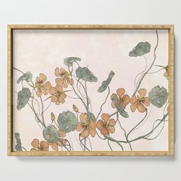 Winding flowers Serving Tray