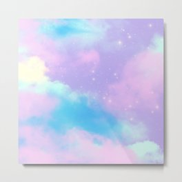 Decorative Fantasy Sky Clouds Dreamy Stardust Metal Print