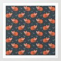 Red Panda Pattern by dianahope