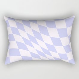 Warped Check - Periwinkle  Rectangular Pillow