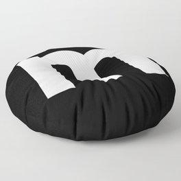 letter M (White & Black) Floor Pillow