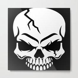 Biker Skull Metal Print