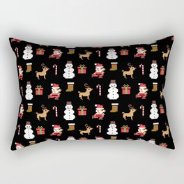 MERRY CHRISTMAS VIDEO GAME Rectangular Pillow