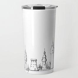 fabulous city . art . black and white Travel Mug