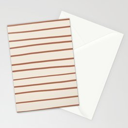 Inspired By Cavern Clay Sw 7701 Hand Drawn Thin Horizontal Lines on Creamy SW7012 Stationery Cards