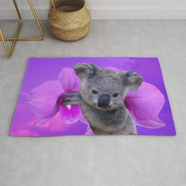 Koala and Orchid Rug
