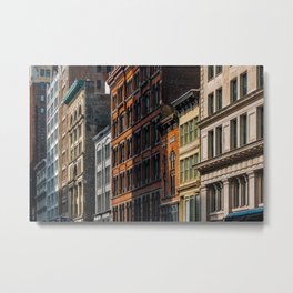 Colorful old buildings in Chelsea New York City Metal Print