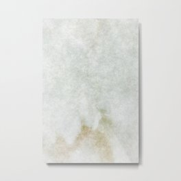 stained fantasy white marble Metal Print
