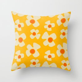 New Flower Daisy Yellow Throw Pillow