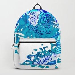 Vintage Watercolor Splash Big Wave Surfing Backpack