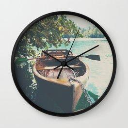 A row boat on Lake Bled, Slovenia Wall Clock