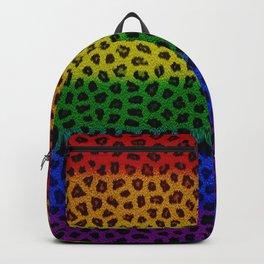 Rainbow Leopard Skin Backpack