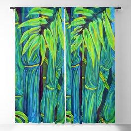 ʻOhe Polū - Blue Bamboo Blackout Curtain