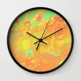 Cotton Candy Cyclops Dream: Tangerine Limeade (3 of 4) Wall Clock