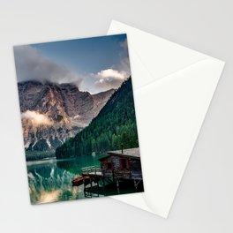 Italian Mountains Lake Landscape Photo Stationery Cards