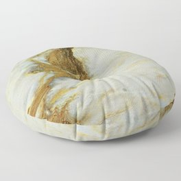 Polished Marble Stone Mineral Texture 5 Floor Pillow