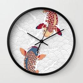 koi fish bold graphic Wall Clock