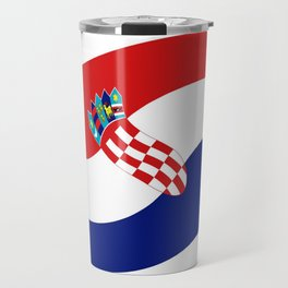Flag of croatia 4 -croatian, Hrvatska,croat,croacia,Zagreb,split,rijeka,osijek. Travel Mug