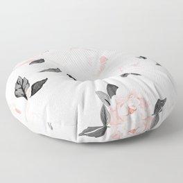 Vintage Blush Floral - BW Floor Pillow