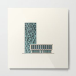 Office building Metal Print