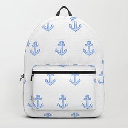 Watercolour Anchor Repeat Pattern Backpack
