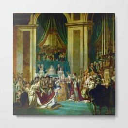 "Jacques-Louis David ""The Coronation of the Napoleon and Joséphine in Notre-Dame Cathedral"" Metal Print"