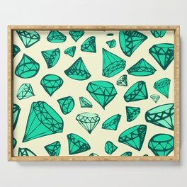 Green Emeralds Serving Tray