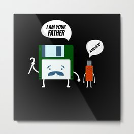 I Am Your Fathers Nooooo USB Floppy Disk Metal Print