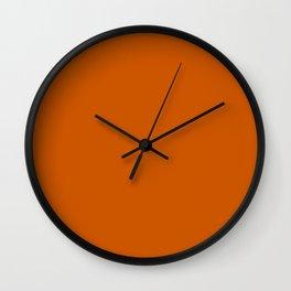 Minimal Burnt Orange Accent Color Wall Clock
