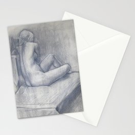 Pensive Nude Stationery Cards